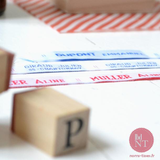 Étiquettes personnalisées marque-linge à coudre collectivités - BDNT
