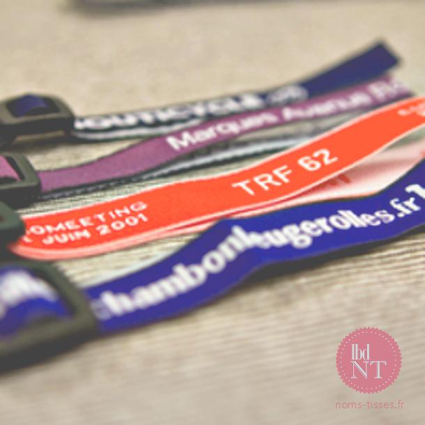 Bracelets personnalisés evenementiels - la boutique du nom tissé
