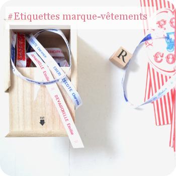 Etiquettes personnalisés pour marquer les vêtements