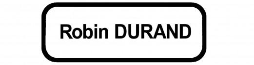 Badges brodés Arial 8mm