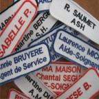 Badges nominatifs brodés - Tous modèles