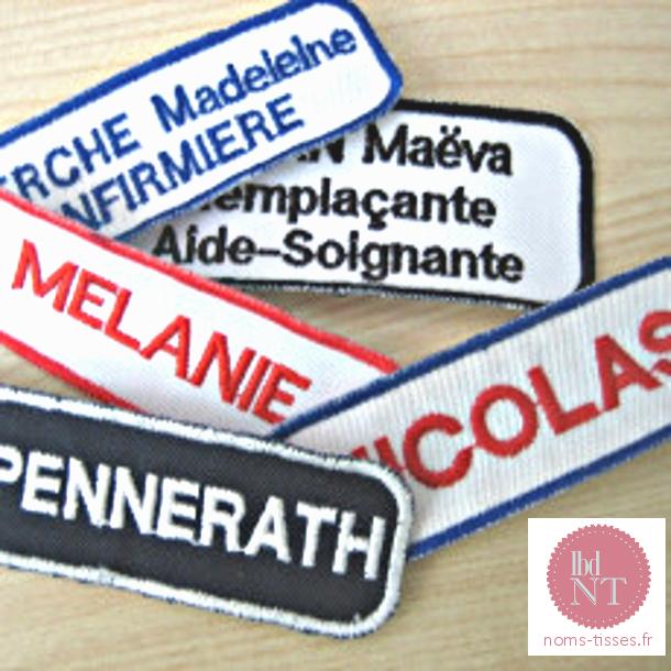Badges nominatifs brodes personnalisés - La Boutique du Nom Tissé