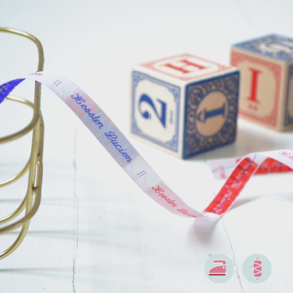 Modèle élégant d'étiquettes personnalisables pour la rentrée des classes à coudre ou à thermocoller