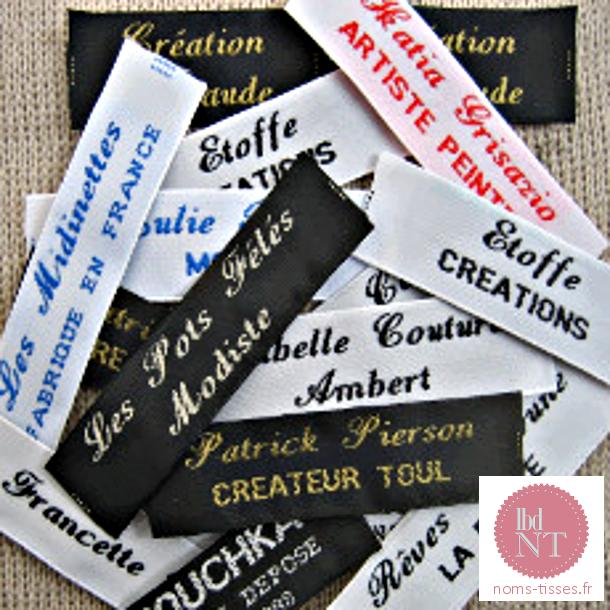 Griffes tissées personnalisées couture - La Boutique du Nom Tissé