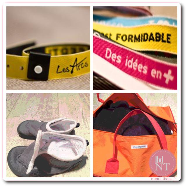Marquage, bracelets, rubans, clubs sportifs et associations